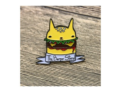 Burger Enamel Pins