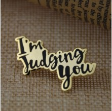 I'm Judging You Enamel Pins