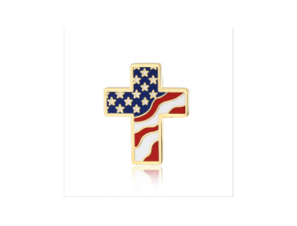 Stock American flag lapel pins (S107)