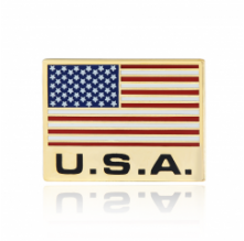 Stock American flag lapel pins (S111)