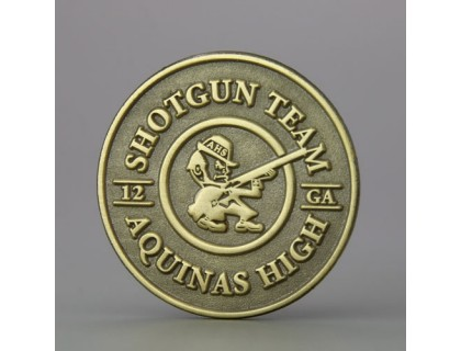 Aquinas Shotgun Team Custom Pins