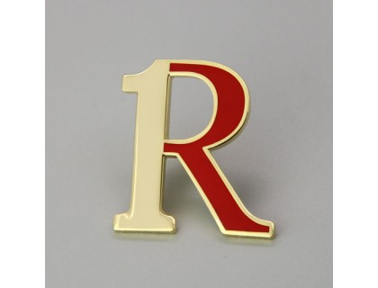 Custom Lapel Pins for Letter R