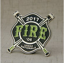 Fire Baseball Trading Pins