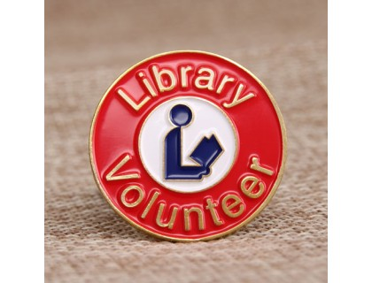 Library Volunteer Lapel Pins