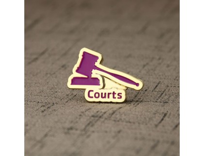 Courts Soft Enamel Pins