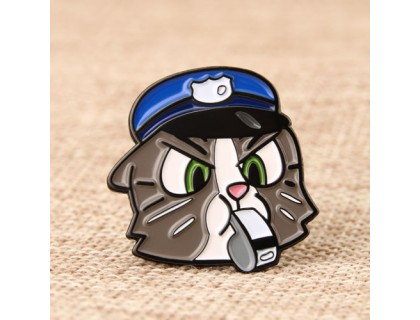 Black Cat Detective Custom Pins