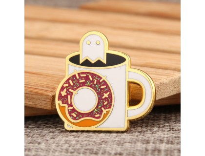Cup and Doughnut Enamel Pins