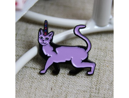 Purple Cat Lapel Pins