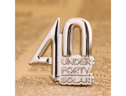 40 under Forty Lapel Pins