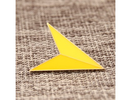 Yellow Arrowhead Custom Lapel Pins