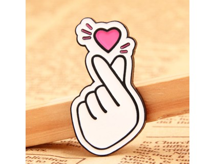 Finger Heart Custom Pins Canada
