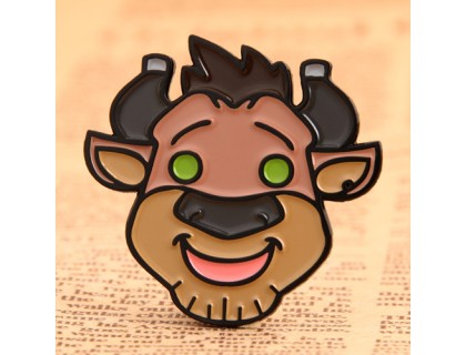 Cartoon Bull Custom Lapel Pins