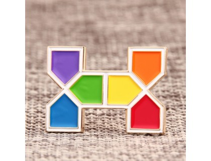 H Shape Custom Lapel Pins