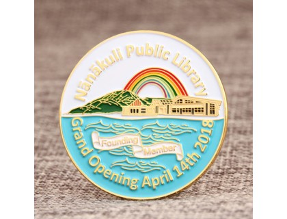 Library Opening Custom Lapel Pins