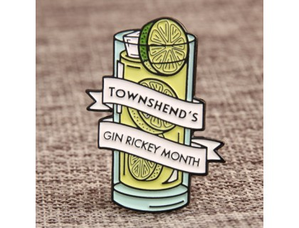 Gin Rickey Custom Lapel Pins