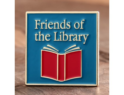 Friends of the Library Lapel Pins Fast