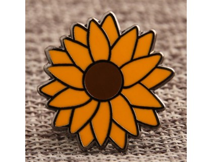 Custom Sunflower Lapel Pins