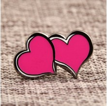 Double Hearts Custom Lapel Pins