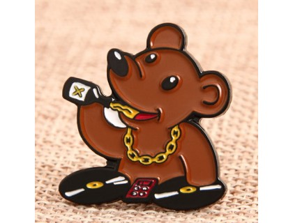 DJ Bear Custom Lapel Pins
