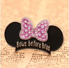 Bows before Bros Lapel Pins